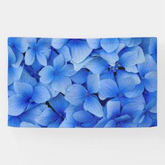Blaue Hydrangea-Blumen Banner