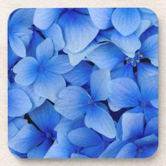 Blaue Hydrangea-Blumen Getränkeuntersetzer