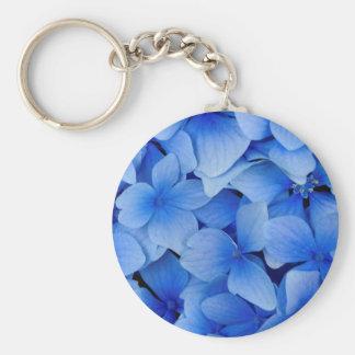 Blaue Hydrangea-Blumen Schlüsselanhänger