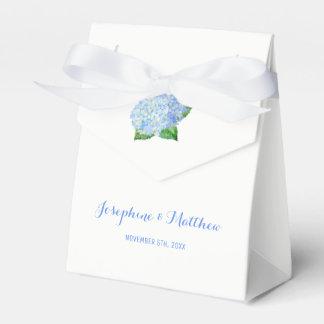 Blaue Hydrangea-Hochzeit Geschenkschachtel