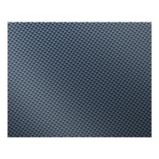 Blaue Imitat-Kohlenstoff-Faser gemustert Photodrucke