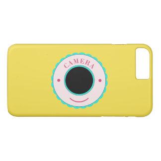 Blaue Individualitätskamera u. -lächeln iPhone 8 Plus/7 Plus Hülle