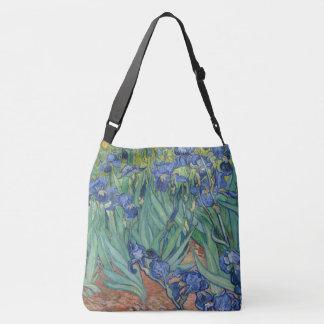 Blaue Iris-Blumen-Garten-Schulter-Taschen-Tasche Tragetaschen Mit Langen Trägern