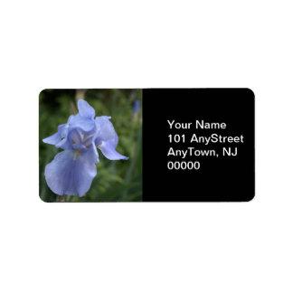 Blaue Iris-Blumenhochzeits-Adressen-Etiketten Adressaufkleber