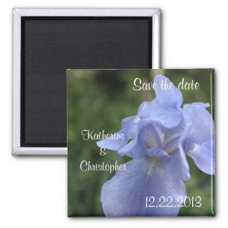 Blaue Iris BlumenSave the Date Wedding Kühlschrankmagnet