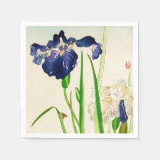Blaue Iris - japanischer Aquarelldruck Servietten