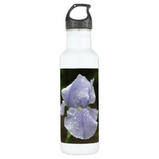 Blaue Iris mit Blumen Trinkflasche