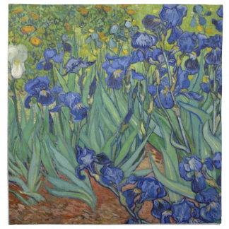 Blaue Iris Stoffserviette
