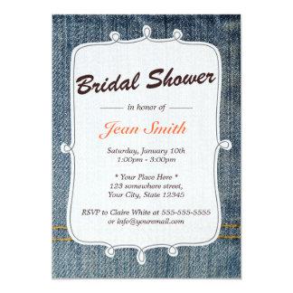 Blaue Jeans-Land-Brautparty-Einladung 12,7 X 17,8 Cm Einladungskarte