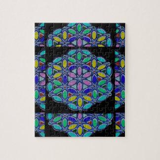 Blaue Juwel-Halsketten-Pendent Mandalaartentwurf Puzzle