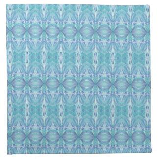 Blaue Kaleidoskop-Muster-Stoff-Serviette Stoffserviette
