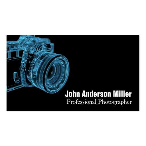 Blaue Kamera-Röntgenstrahl-Fotograf-Visitenkarten