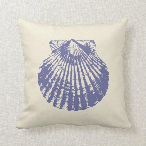 blaue kamm muschel muschel kissen zazzle. Black Bedroom Furniture Sets. Home Design Ideas