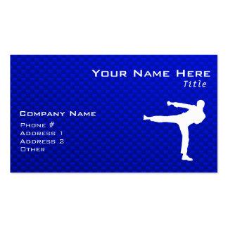 Blaue Kampfkünste Visitenkarten Vorlagen