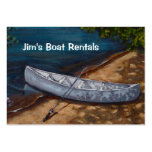 Blaue Kanu-Malerei, Boots-Mietgeschäft Visitenkarten Vorlagen