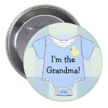 Blaue Kariert-Baby Duschen-Großmutter