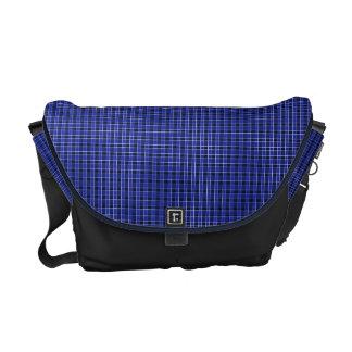 Blaue karierte Bote-Tasche Kuriertasche