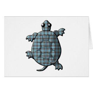 Blaue karierte Schildkröten Karte