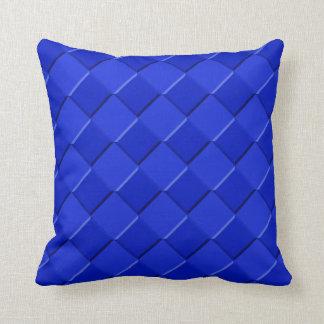 blaue Kästen Kissen