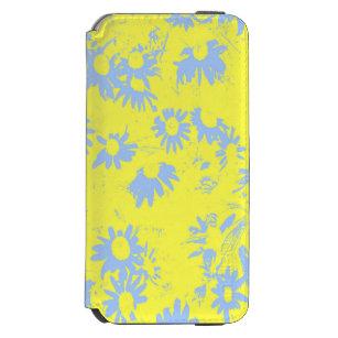 Blaue Kegel-Blumen mit gelbem Hintergrund Incipio Watson™ iPhone 6 Geldbörsen Hülle