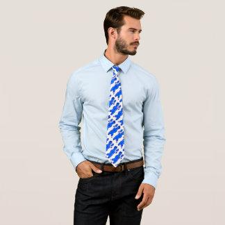 Blaue Kleckse Krawatte