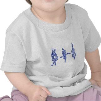 Blaue Knoten T-Shirts