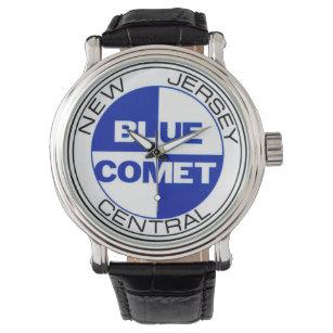 Blaue Kometen-Uhr 01 Armbanduhr