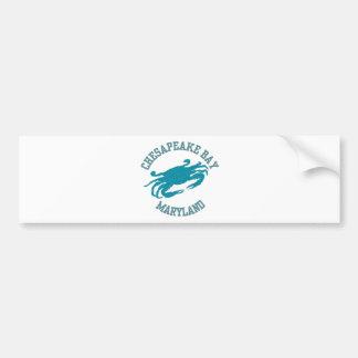 Blaue Krabbe Chesapeake Bays Autoaufkleber