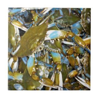 blaue Krabbe Fliese