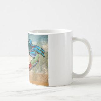 Blaue Krabbe Kaffeetasse