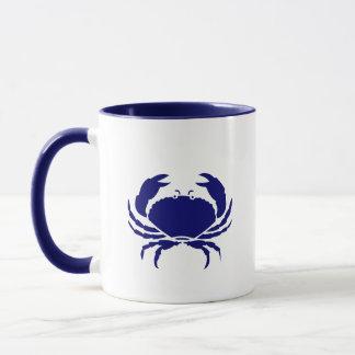 Blaue Krabbe Tasse