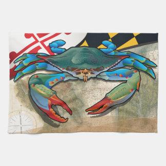 Blaue Krabbe von Maryland Küchentuch