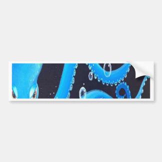 Blaue Krake Autoaufkleber