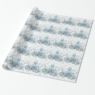 """Blaue Kraken-glattes Packpapier, 30"""" x 6' Geschenkpapier"""