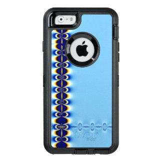 Blaue Kräuselung OtterBox iPhone 6/6s Hülle