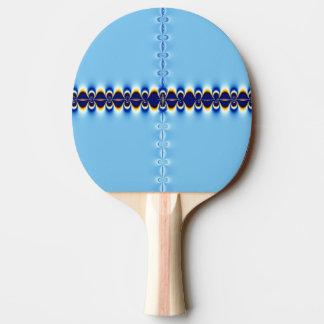 Blaue Kräuselung Tischtennis Schläger