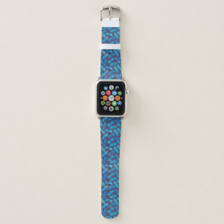 Blaue Krawatten-Ananas Apple Watch Armband