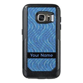 Blaue Kreise und Wellen-Muster OtterBox Samsung Galaxy S7 Hülle