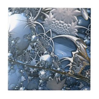 Blaue Kristallfaszination Kleine Quadratische Fliese