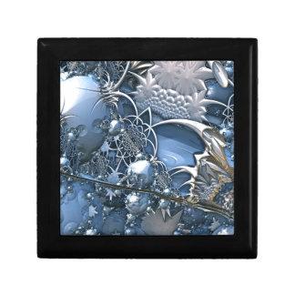 Blaue Kristallfaszination Kleine Quadratische Schatulle