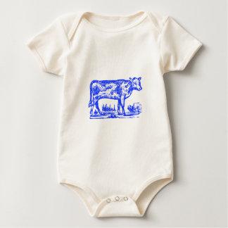 Blaue Kuh Baby Strampler