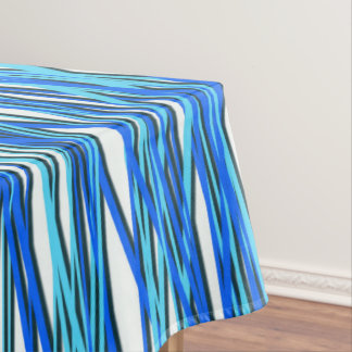 Blaue Kurven Tischdecke