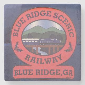 Blaue landschaftliche Eisenbahn Ridges, blaues Steinuntersetzer