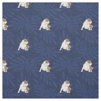 Blaue Lauae Bulldogge Stoff