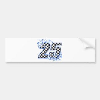 blaue laufende Nr. 25 Autoaufkleber