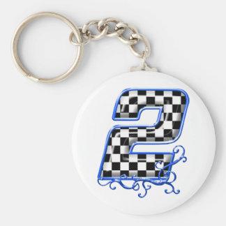 blaue laufende Nr. 2 Schlüsselanhänger