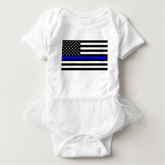 Blaue Leben-Angelegenheit - US-Flaggen-Polizei Baby Strampler