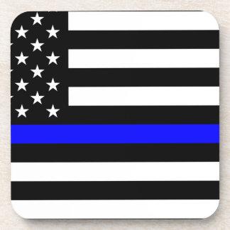 Blaue Leben-Angelegenheit - US-Flaggen-Polizei Getränkeuntersetzer