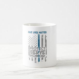 """Blaue Leben-Angelegenheits-"" dünne blaue Linie Kaffeetasse"