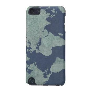 Blaue LeinenWeltkarte iPod Touch 5G Hülle